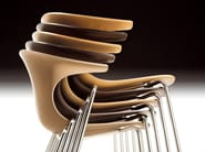 Stackable multi-layer wood chair LOOP | Multi-layer wood chair - Infiniti