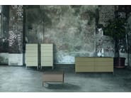 Lacquered bedside table with drawers INSIDE | Bedside table - ALIVAR