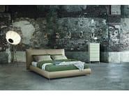Upholstered leather double bed with upholstered headboard SUITE   Bed - ALIVAR
