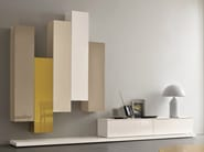 Sectional lacquered storage wall SLIM 5 - Dall'Agnese