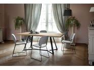 Sled base fabric chair TRAFFIC-T | Fabric chair - DOMITALIA