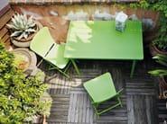 Contemporary style folding rectangular glass-fibre garden table ZIC - Nardi