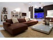 Corner modular fabric sofa MOON | Corner sofa - Dall'Agnese