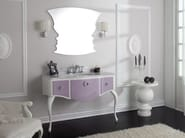 Lacquered console sink with drawers GLAM 01 - LEGNOBAGNO