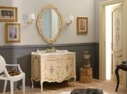 Wooden vanity unit with doors NARCISO DECORATO - LEGNOBAGNO