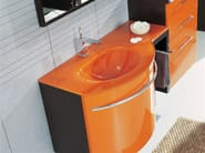 Lacquered vanity unit with drawers GENIUS G201 - LEGNOBAGNO