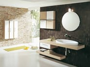Single wall-mounted vanity unit with drawers GENIUS G204 - LEGNOBAGNO