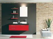Lacquered vanity unit with drawers GENIUS G206 - LEGNOBAGNO