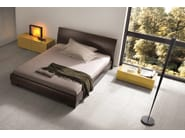 Walnut double bed VICTOR | Walnut bed - Dall'Agnese