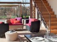 Woven wicker armchair YORK | Garden armchair - Minacciolo