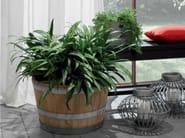 Low wooden vase CATÌ | Low vase - Minacciolo