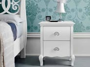 Lacquered bedside table with drawers SYMFONIA   Lacquered bedside table - Dall'Agnese