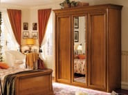 Mirrored cherry wood wardrobe CHOPIN | Wardrobe for kids' bedrooms - Dall'Agnese