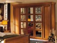 Mirrored cherry wood wardrobe CHOPIN | Wardrobe - Dall'Agnese