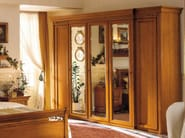Mirrored cherry wood wardrobe CHOPIN | Mirrored wardrobe - Dall'Agnese
