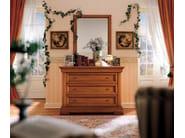 Rectangular wall-mounted cherry wood mirror CHOPIN | Rectangular mirror - Dall'Agnese