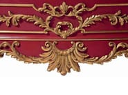 Baroque lacquered bedside table with drawers MG 6506 - OAK Industria Arredamenti