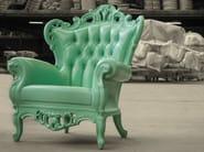 Polyurethane garden armchair with armrests PLASTIC LUIGI - POLaRT