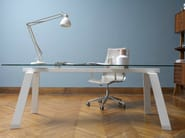 Rectangular table TORONTO | Glass and steel table - Midj