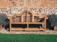 Teak garden bench with armrests LANCASTER - Tectona
