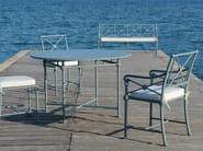 Aluminium garden bench with armrests MADELEINE CASTAING - Tectona