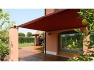 Motorized sliding awning with guide system Awning - STUDIO 66
