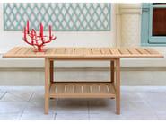 Low teak garden side table EXETER | Low coffee table - Tectona