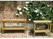 Rectangular teak garden console LEEDS - Tectona