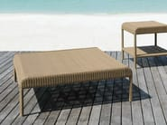 Low square resin garden side table SHANGHAI | Low coffee table - Tectona