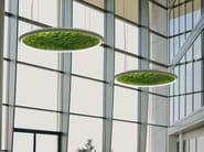 Dried moss LED pendant lamp LUCE VERDE SLIM - Sattler