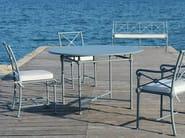 Round aluminium garden table 1800 | Round table - Tectona