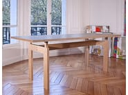 Rectangular multi-layer wood table T1 | Table - MALHERBE EDITION