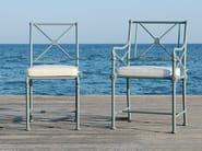 Aluminium garden armchair with armrests 1800 | Garden armchair - Tectona