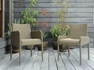Resin garden armchair with armrests SHANGHAI | Garden armchair - Tectona