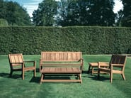 Teak garden bench with armrests SOMERSET | Garden bench - Tectona
