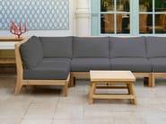 Sectional modular teak garden armchair EXETER | Sectional garden armchair - Tectona
