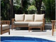 Recliner 3 seater teak garden sofa GOA | 3 seater sofa - Tectona