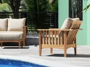 Recliner teak garden armchair with armrests GOA | Garden armchair - Tectona