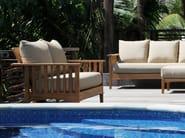 Recliner 2 seater teak garden sofa GOA | 2 seater sofa - Tectona
