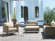 Resin fireside chair with armrests SHANGHAI | Fireside chair - Tectona