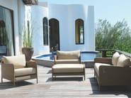 Rectangular resin garden footstool SHANGHAI | Garden footstool - Tectona