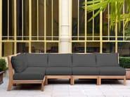 Corner teak garden armchair EXETER | Corner garden armchair - Tectona