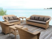 3 seater resin garden sofa JAVA | 3 seater sofa - Tectona