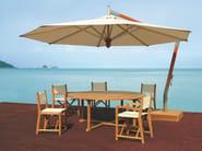 Offset round aluminium Garden umbrella COLIBRI - Tectona