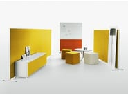 Workstation screen / office whiteboard ALUMI COMBI - Abstracta