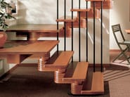 U-shaped Open staircase with central stringer ARAYA OLD - RINTAL