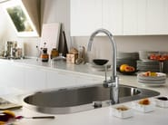 Chrome-plated kitchen mixer tap with swivel spout WEB | Kitchen mixer tap - Carlo Nobili Rubinetterie