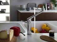 Chrome-plated kitchen mixer tap with swivel spout ZOOM | Kitchen mixer tap - Carlo Nobili Rubinetterie