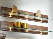 Wood and glass wall shelf METIS PLUS | Walnut wall shelf - Hülsta-Werke Hüls