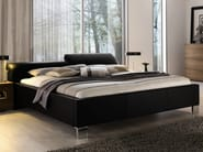 Leather double bed with adjustable headrest ELUMO II | Bed with adjustable headrest - Hülsta-Werke Hüls